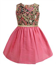 Love this A.T.U.N. Rouge Embroidered A-Line Dress - Infant, Toddler & Girls by A.T.U.N. on #zulily! #zulilyfinds