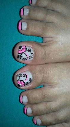 Nice toenails Nail Polish Style, Nail Polish Art, Toe Nail Art, Color For Nails, Love Nails, Pretty Nails, Cute Pedicure Designs, Toe Nail Designs, Pedicure Nail Art