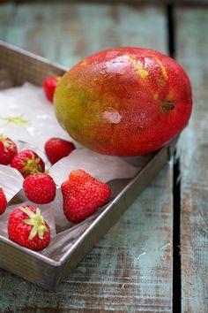 Saveurs Végétales: Mr Freeze { mangue / fraise }