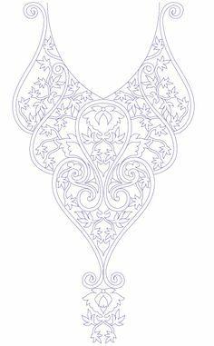 Neck Line Embroidery Design Development