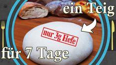 Backen mit wenig Hefe, Rezepte mit Hefeteig - YouTube Pizza, Bread, Youtube, Food, Bread Baking, Kuchen, Brot, Essen, Baking