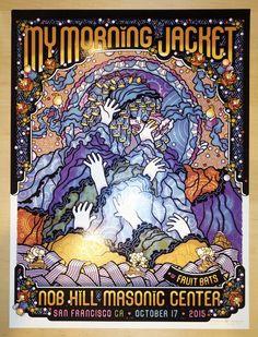 2015 My Morning Jacket - San Francisco III Silkscreen Concert Poster by Guy Burwell