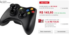 Controle sem Fio XBOX 360 << R$ 12954 >>