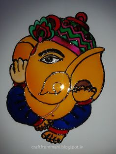 My Interest: Glass Painting - Ganesha