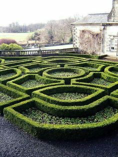 Formal Garden Designs and Ideas Have you ever really thought about how many people see the outside of your home? Boxwood Garden, Garden Hedges, Topiary Garden, Garden Landscaping, Herb Garden Design, Modern Garden Design, Garden Art, Landscape Design, Formal Gardens