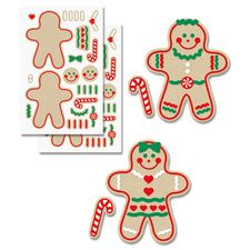 Decorate-Your-Own Gingerbread Sticker Sheets