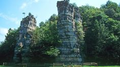 Natural Chimneys Regional Park, Virginia Located in the Shenandoah Valley, Natural Chimneys Park features 120-foot limestone rock towers. In addition to viewing the rock towers, visitors can spend time hiking around the park or camping overnight.