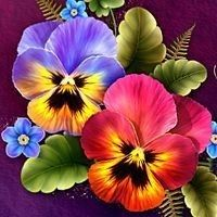 "Most recent Absolutely Free Pansies flowers Strategies Pansies will be the colorful flowers with ""faces."" A cool-weather favorite, pansies are best for China Painting, Tole Painting, Fabric Painting, Art Floral, Watercolor Flowers, Watercolor Art, Art Sur Toile, Illustration Blume, 3d Modelle"