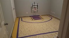 Masking the lines of the Lakers court