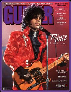 PRINCE Covers August 2016 Guitar World Magazine