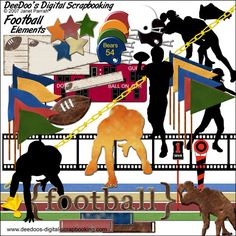 The Football Digital Scrapbooking Kit - Elements $14.95
