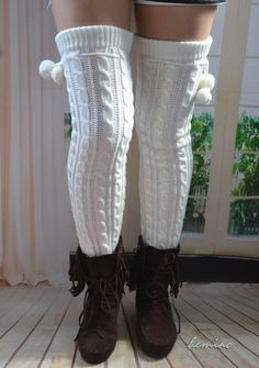 Cable Knit Socks, Slouch Socks, Boot Socks, Knitting Socks, Thigh High Leg Warmers, Thigh High Socks, Thigh Highs, Hunter Boots Outfit, Frilly Socks
