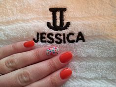 Bright lights geleration with polka dot feature nail