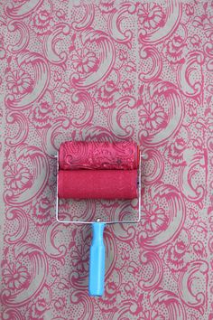 Better than wallpaper! Night Dahlia Patterned Paint Roller and Applicator Set from NotWallpaper