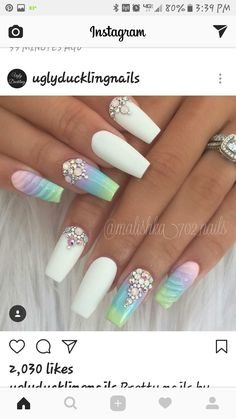 Pretty Pastel & White Nails
