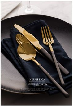 Or Noir, Knife And Fork, Gabel, Tableware, Html, Steak Knives, Stainless Steel, Cutlery Set, Knives