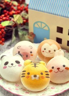 Macarons felices de animalitos :)