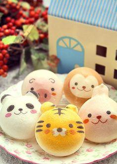 Macarons felices de animalitos :)