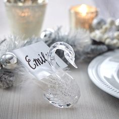 Silver & Snow Tablesetting