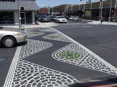 Decorative crosswalk - by Globe Asphalt Paving