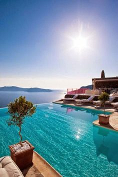 to visit santorini and swim in an infinity pool - defo one for my bucket list! Santorini, Greece - 10 Fascinating Places To Visit One Day Holiday Destinations, Vacation Destinations, Dream Vacations, Vacation Spots, Holiday Places, Greece Destinations, Mini Vacation, Places Around The World, The Places Youll Go