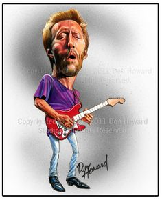 Don Howard Eric Clapton Celebrity Caricature