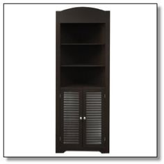 Found it at Wayfair - RiverRidge Home Products Ellsworth Tall Corner Etagere with Three Open Shelves On Top Pantry Cabinet, Traditional Shutters, Accent Furniture Living Room, Open Shelving, Bathroom Essentials, Crockery Unit, Cabinet, Corner Kitchen Pantry, Tall Corner Cabinet