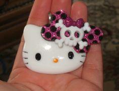Monster High Gingham Bow Hello Kitty Pendant | evezbeadz - Novelty on ArtFire