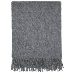 100% pure new wool throw in a traditional plain coloured design.Keep the cold temperatures away when you wrap yourself up in this beautiful charcoal grey throw. Made out of 100% wool, this throw is created to perfectly complement any décor and to beautifully grace any sofa or love seat. With a large size of 130 x 170 cm, it's the ideal companion for chilly nights when the snow is falling.100% Pure New Wool. Cool handwash or Dry clean.130 x 170 cm (excluding fringe length)