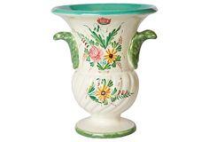 Italian Ceramic Urn w/ Floral Motif on OneKingsLane.com