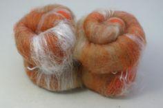 Pumpkin Pie Spinning Batt  PP002 SMOOTH  baby alpaca by AlmaPark, $10.00