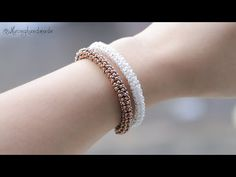 Tubular netted bracelet with only seed beads DIY. How to make beaded bracelet - YouTube Diy Jewelry Rings, Diy Jewelry Tutorials, Bead Jewellery, Fine Jewelry, Handmade Jewellery, Seed Bead Necklace, Seed Bead Bracelets, Seed Beads, Making Bracelets With Beads
