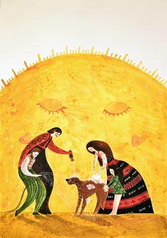 My friend the Sun (watercolor illustration)