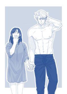 Anime Couples Drawings, Anime Couples Manga, Anime Poses, Cute Anime Couples, Romantic Anime Couples, Manga Anime, Anime Art, Anime Demon, Romantic Manga