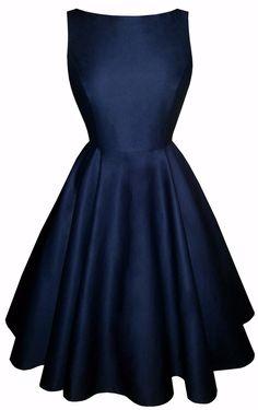 Full circle 'Josie' in navy cotton