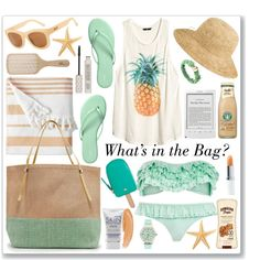 """""""What's in My Beach Bag"""" by saralemon on Polyvore"""