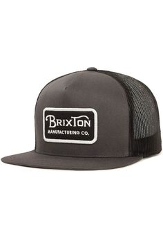 The Grade Mesh Cap is a five-panel cut and sew foam backed cotton mesh cap with custom embroidered patch at front and adjustable snaps at back.