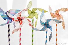 Make Washi Tape Pinwheel Flowers