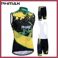 PHMAX 2017 Breathable Pro Cycling Jersey Sleeveless Summer Bike Clothes Set Bicycle Vests Clothing Ropa Maillot Ciclismo