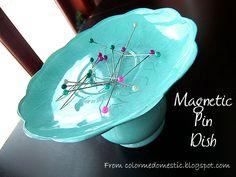magnetic pin dish...GREAT idea!
