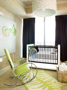 Hmm, tthat back wall might be an idea for my tiny nursery.  Crib in front of the window and full wall curtains. I like.