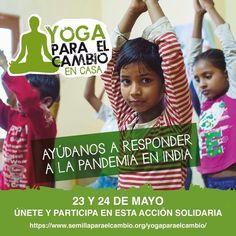 """Nuestra Profe de Yoga Sensitivo, Ada Palla Vega, te invita: . """"...Hola 🌞 🙏🏽 . Me alegra comunicar que voy a participar en el evento solidario Yoga para el Cambio, que se celebrará online los próximos días 🗓 23 y 24 de mayo🧘🏼♂️ ✨ . . Ofreceré una de las sesiones de su programa, que contará con actividades de yoga, meditación, música y danza, impartidas por centros y profesorado de España e India. . 🕊 Este evento solidario está organizado por la ONG Semilla para el Cambio y…"""