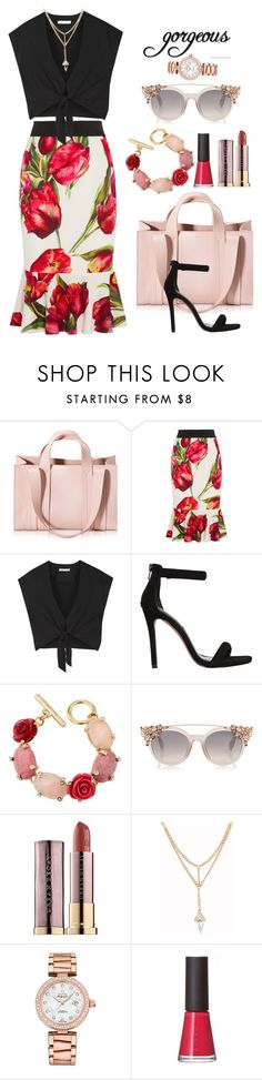 """""""Gorgeous"""" by frenchfriesblackmg ❤ liked on Polyvore featuring Corto Moltedo, Dolce&Gabbana, Alice + Olivia, Steve Madden, Oscar de la Renta, Urban Decay, OMEGA and SUQQU"""
