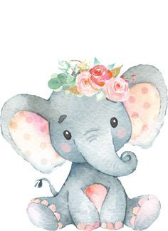 Baby Elephant Drawing, Baby Animal Drawings, Cute Baby Elephant, Elephant Art, Cute Drawings, Cute Elephant Cartoon, Baby Elephants, Baby Drawing