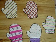 Glove Matching Game. Papier Bastleien Für KinderKunstprojekteBastelpapier  ...