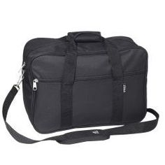 Everest 16-inch Black Carry-on Soft Briefcase with Shoulder Strap