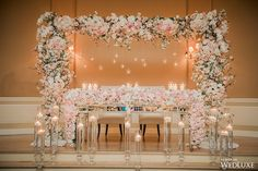 WedLuxe– A Gorgeous, Opulent Wedding with Blush Floral Abound |  Follow @WedLuxe for more wedding inspiration!