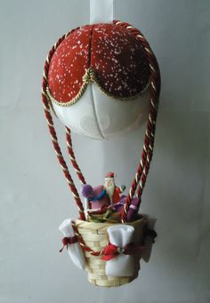Handmade Christmas tree hot-air-balloon ornament by SplendidIdeas