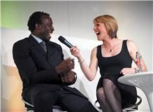 Legends Linford Christie & Katharine Merry