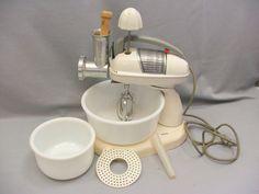 Vintage Hamilton Beach Model G Mixer Complete Attachments